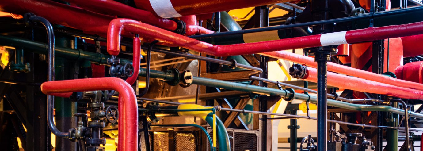 Industrial Factory and Pipework